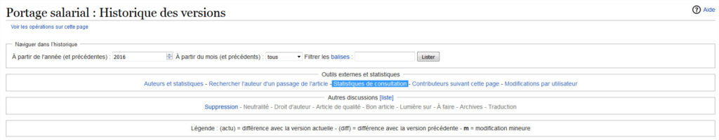 statistiques wikipedia